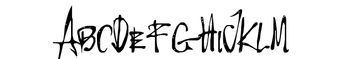 Little Insect from another planet Font UPPERCASE