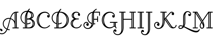 Little Lord Fontleroy NF Font UPPERCASE