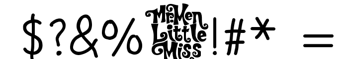Little Miss Medium Font OTHER CHARS