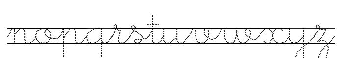 Little School 9 Font LOWERCASE
