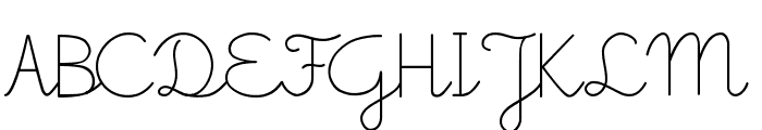 Little School Font UPPERCASE