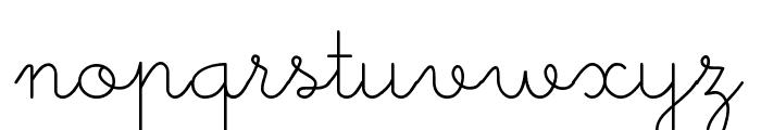 Little School Font LOWERCASE