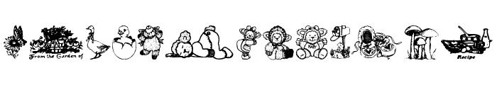 Little cuties Font UPPERCASE