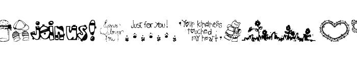 Little cuties Font LOWERCASE