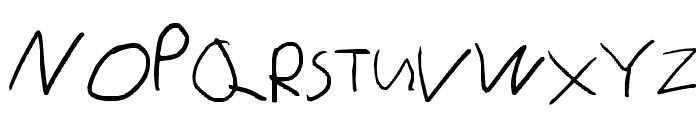 Little sister's writing Font UPPERCASE