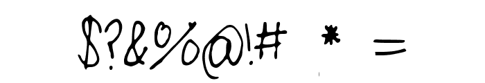 LittleMissPaperMoonsHandwriting Font OTHER CHARS