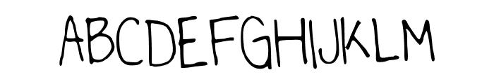LittleMissPaperMoonsHandwriting Font UPPERCASE