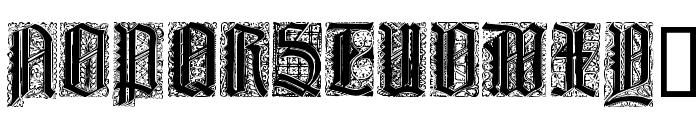 Liturgisch Zierbuchstaben Font UPPERCASE