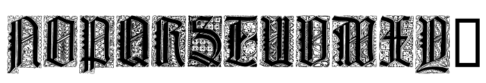 LiturgischZierbuchstaben Font UPPERCASE