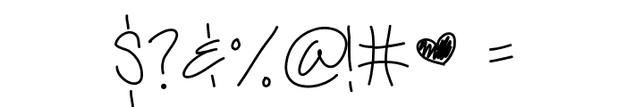 LiveLaughLove Font OTHER CHARS