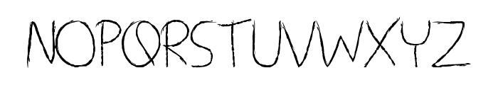 Living Dead Girl Font UPPERCASE