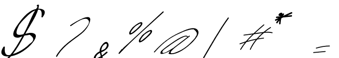 Livingston Signature Font OTHER CHARS