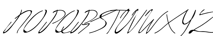 Livingston Signature Font UPPERCASE