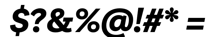 Livvic Bold Italic Font OTHER CHARS