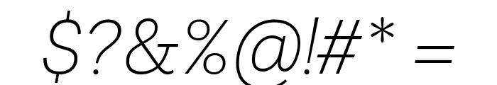Livvic ExtraLight Italic Font OTHER CHARS