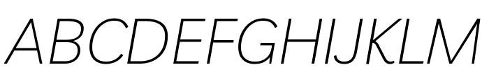 Livvic ExtraLight Italic Font UPPERCASE