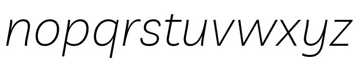 Livvic ExtraLight Italic Font LOWERCASE