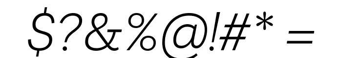 Livvic Light Italic Font OTHER CHARS