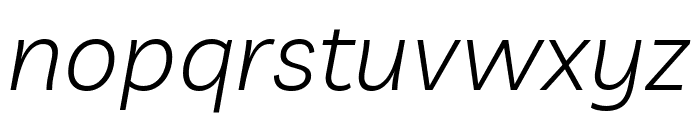 Livvic Light Italic Font LOWERCASE