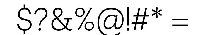 Livvic Light Font OTHER CHARS