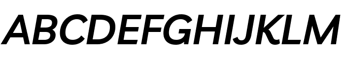 Livvic SemiBold Italic Font UPPERCASE