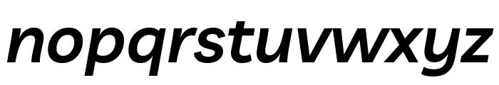 Livvic SemiBold Italic Font LOWERCASE