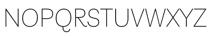 Livvic Thin Font UPPERCASE