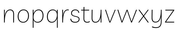 Livvic Thin Font LOWERCASE
