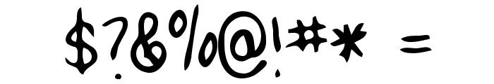 Lizard Regular Font OTHER CHARS