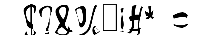 Lizzard Font OTHER CHARS