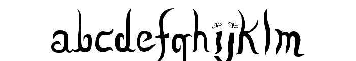 Lizzard Font LOWERCASE