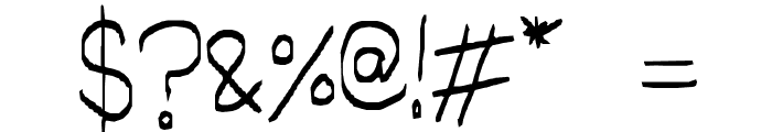 little miss script Font OTHER CHARS