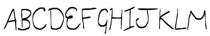 little miss script Font UPPERCASE