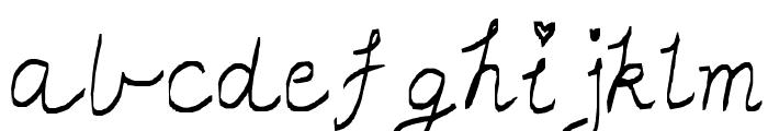little miss script Font LOWERCASE