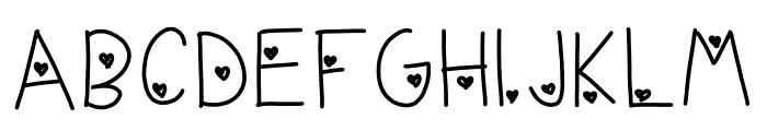live love life Font UPPERCASE