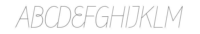Line Sixteen Font UPPERCASE