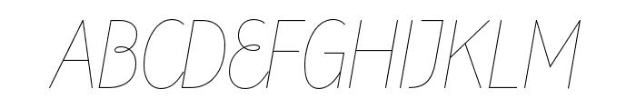 Line Twenty Font UPPERCASE