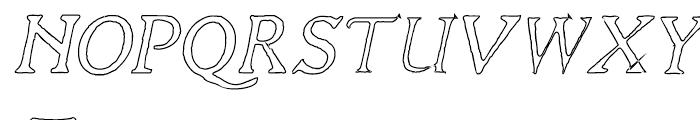 Liam Outline Font UPPERCASE