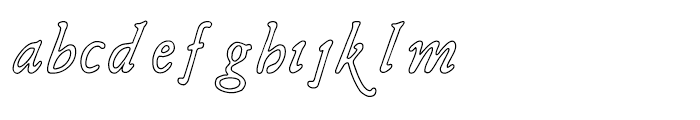 Liam Outline Font LOWERCASE