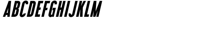 Libel Suit Bold Italic Font UPPERCASE