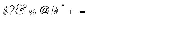 Liberty Script Regular Font OTHER CHARS
