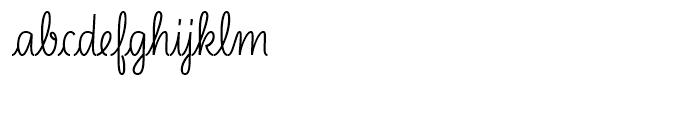 LiebeLotte Semi Bold Font LOWERCASE