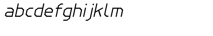 Line Wire Regular Italic Font LOWERCASE
