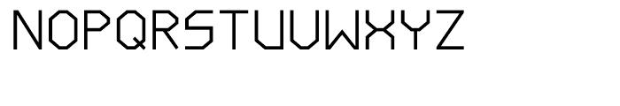 Line Wire Regular Font UPPERCASE