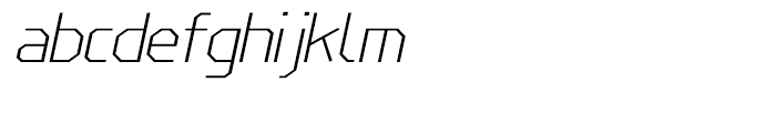 Line Wire Thin Italic Font LOWERCASE