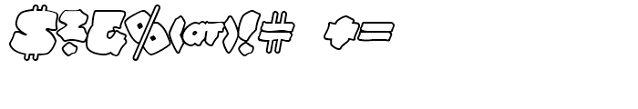 Line44 Outline Font OTHER CHARS