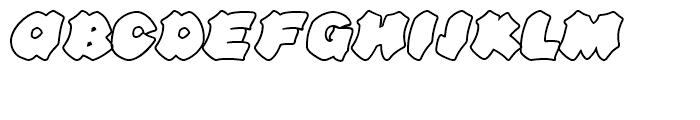 Line44 Outline Font UPPERCASE