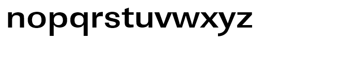 Linear Bold Extra Wide Font LOWERCASE