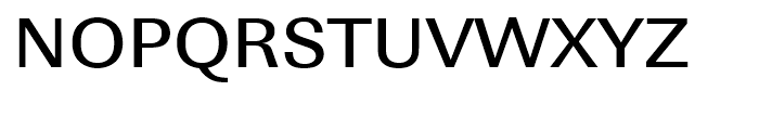 Linear Medium Wide Font UPPERCASE