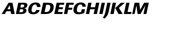 Linear Ultra Bold Wide Oblique Font UPPERCASE